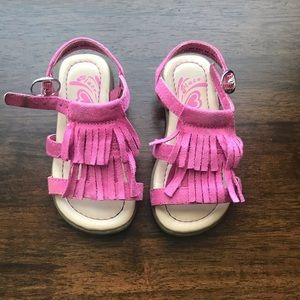 Children's Place Pink Fringe Sandals